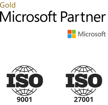 Gold Microsoft Partner, ISO 9001 and ISO 27001 certified